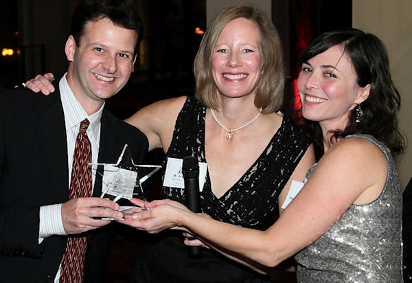 Matt and Martha accepting the CHAMPS Hilly Award for Professional Service Provider