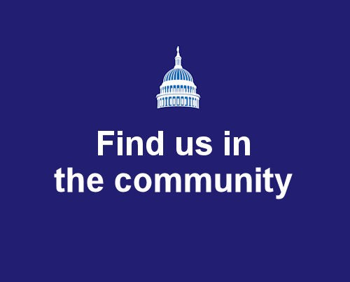 find us in the community