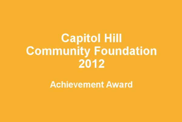 Capitol Hill Community Foundation award
