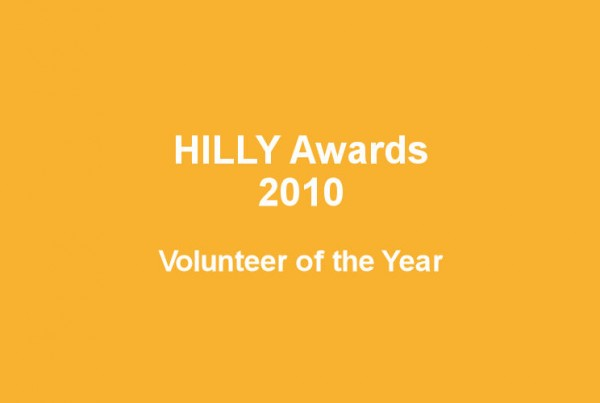Hilly awards 2010 volunteer of the year