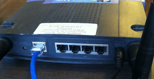 internet router set up
