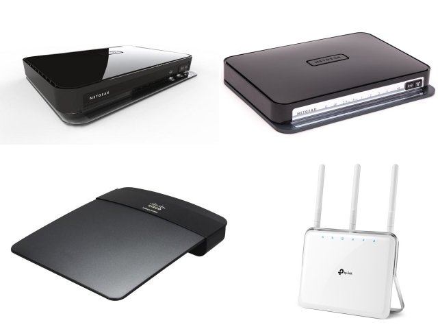 Image of 4 old router styles